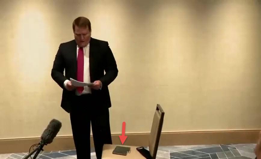 Tony Bobulinski holds press conference